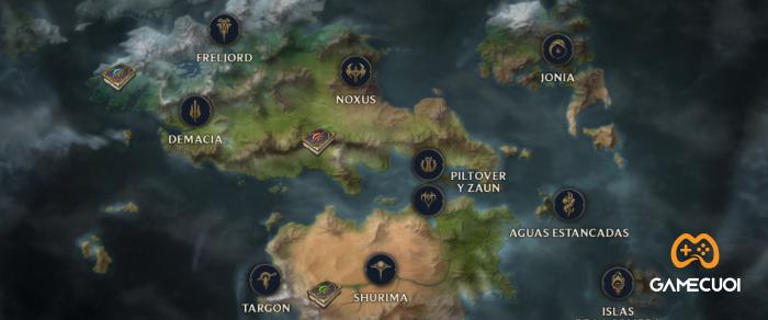 Các khu vực lớn trong vũ trụ Runeterra