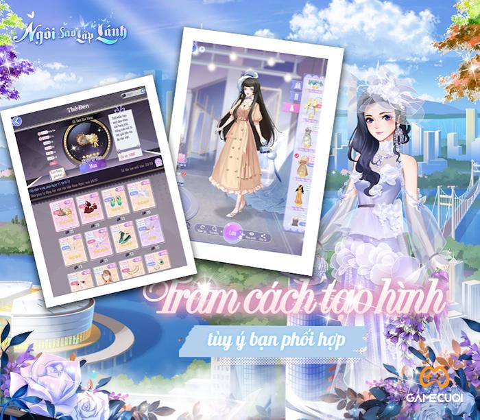 Game cực phẩm Ngôi Sao Lấp Lánh mobile đồ họa 3D đẹp mắt, tạo hình nhân vật toàn là trai xinh gái đẹp 3-5
