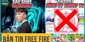 Free Fire: Timmy TV Chính Thức Bị Cơ Quan Chức Năng Yêu Cầu Xóa Kênh
