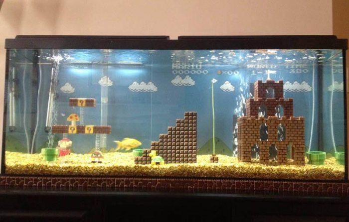 mario world 1 1 fish tank Game Cuối