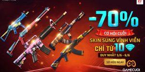 Top 6 skin súng miễn phí, rẻ nhưng rất mạnh trong Free Fire