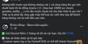 """Divine Shop bị tố """"bán"""" Discord Nitro free cho game thủ Việt"""