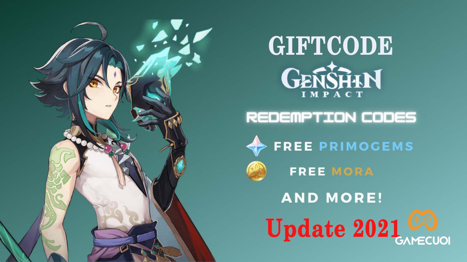 Code Genshin Impact mới nhất cập nhật tháng 9/2021 và cách nhận, nhập Giftcode