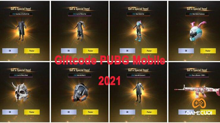 999 Code PUBG Mobile tháng 10/2021 cập nhật mới nhất với skin súng và xe miễn phí