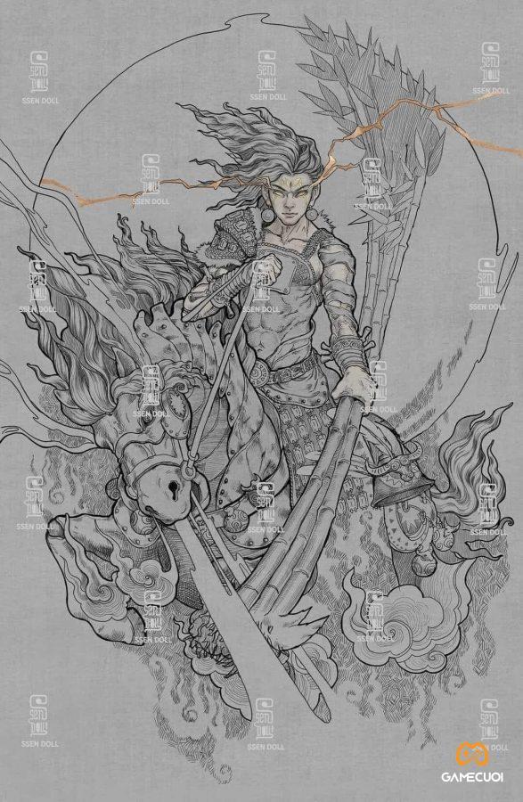 Phù Đổng Thiên Vương, cũng gọi Sóc Thiên vương nhưng hay được gọi là Thánh Gióng