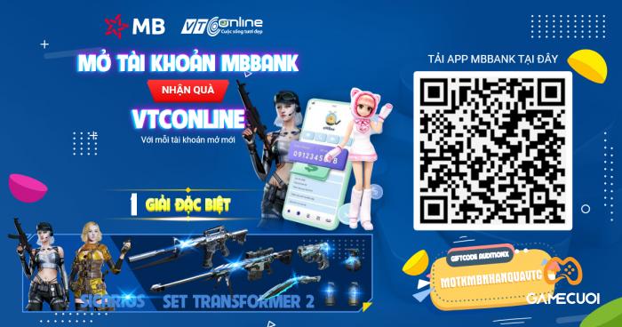 Tạo tài khoản MBBank để có cơ hội nhận quà Đột Kích khủng ngay hôm nay.
