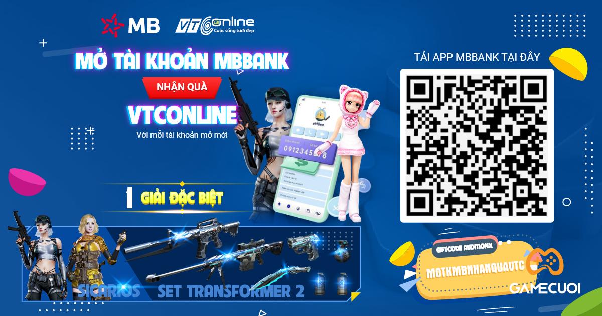 Game thủ Đột Kích khi mở tài khoản tại MB Bank sẽ được tặng… Súng