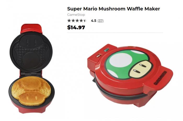 10 vat dung nha bep doc dao theo chu de gaming Mario Waffle Maker Game Cuối