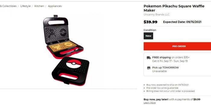 10 vat dung nha bep doc dao theo chu de gaming Pokemon Waffle Maker Game Cuối
