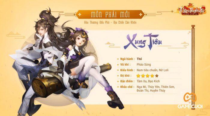 Môn phái hệ Thổ Xung Tiêu sẽ xuất hiện trong tạo hình nam tiêu chuẩn và nữ Loli