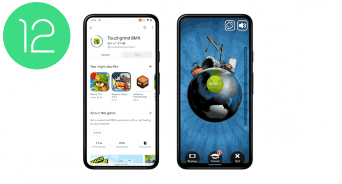 Android 12 Play as you download Game Cuối