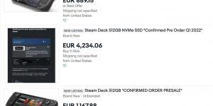 Đơn đặt trước Steam Deck đội giá lên hơn… 100 triệu đồng