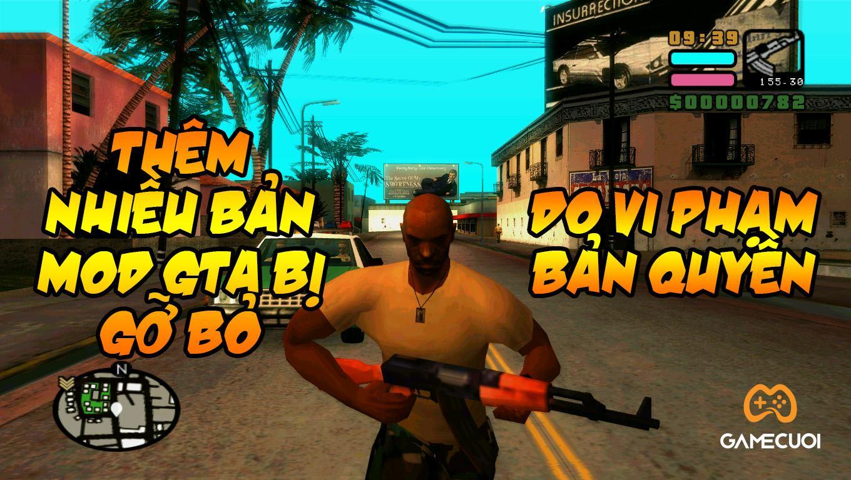Thêm nhiều bản mod GTA bị gỡ bỏ do vi phạm bản quyền