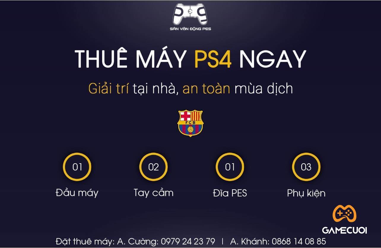 Xuất hiện dịch vụ cho thuê PS4, PS5 tại nhà với mức giá từ 50000 đồng/ngày