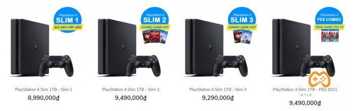 Giá bán máy Ps4 Slim trên thị trường