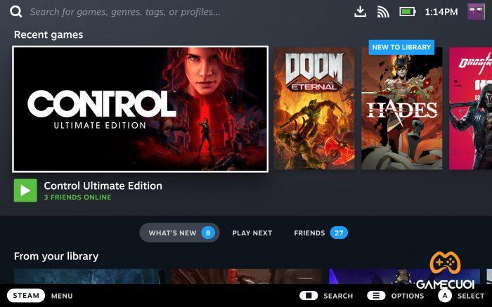 Valve đập đi xây lại SteamOS với giao diện hoàn toàn mới, và tối ưu riêng cho chiếc máy của mình.