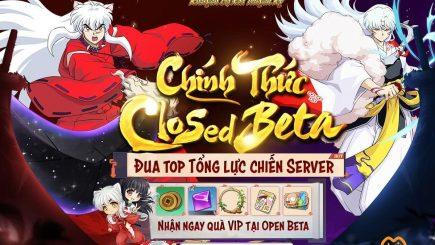 Khuyển Dạ Xoa Truyền Kỳ – IP InuYasha chính thức Closed Beta, bắt đầu sự kiện đua TOP lực chiến nhận quà OB cực hot!