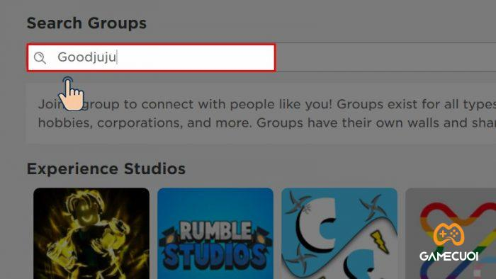 Tìm group Goodjuju
