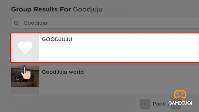 Sau đó nhấn vào groupGoodjuju.