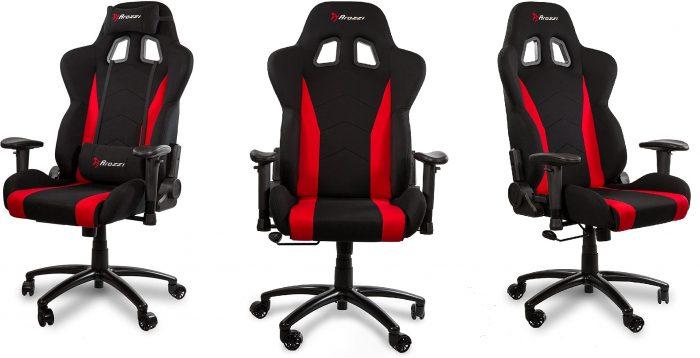 Ghe choi game vai soi Fabric tot nhat Arozzi Inizio Ergonomic Fabric Gaming Chair Game Cuối