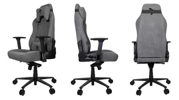 Ghe choi game vai soi Fabric tot nhat Arozzi SFB ASH Vernazza Soft Fabric Gaming Chair Game Cuối