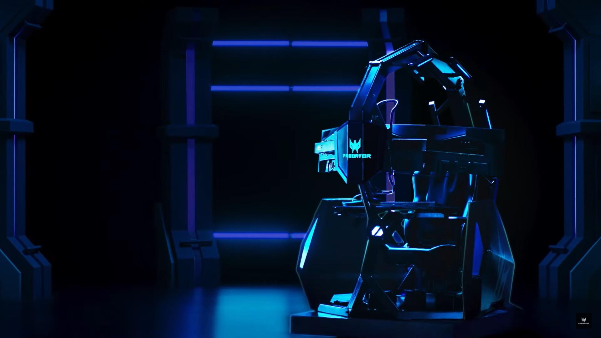 Predator Thronos Air: Ghế gaming siêu cao cấp giá hơn 300 triệu, nặng 324kg và hỗ trợ đến 3 màn hình