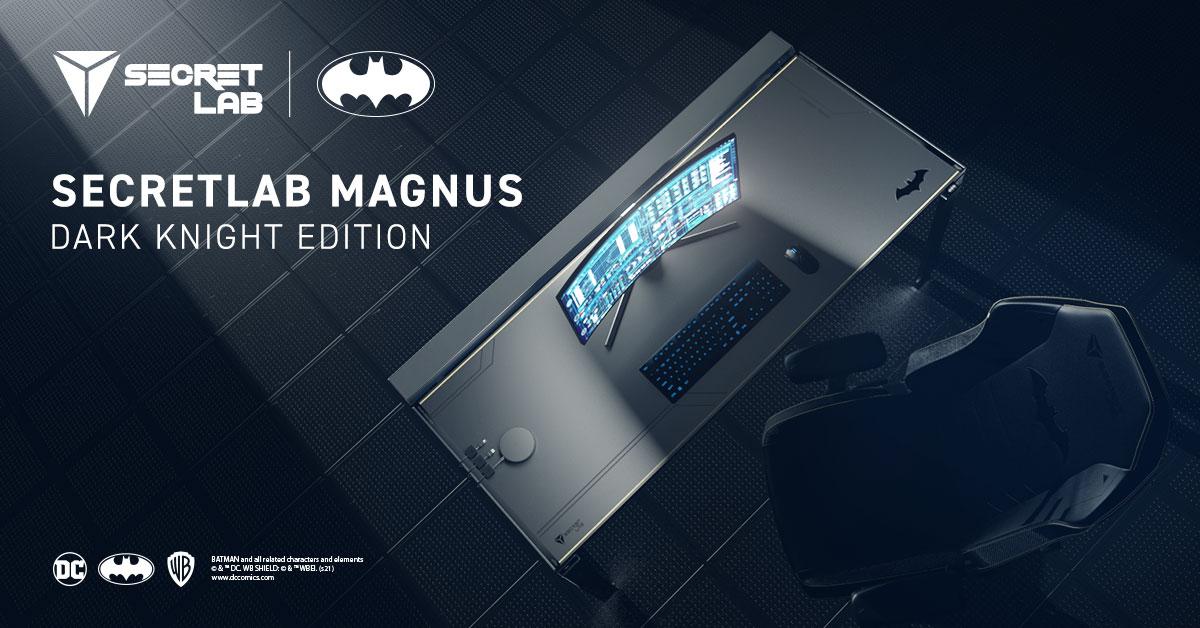 """Secretlab trình làng bàn gaming """"Hiệp sĩ bóng đêm"""" Batman"""