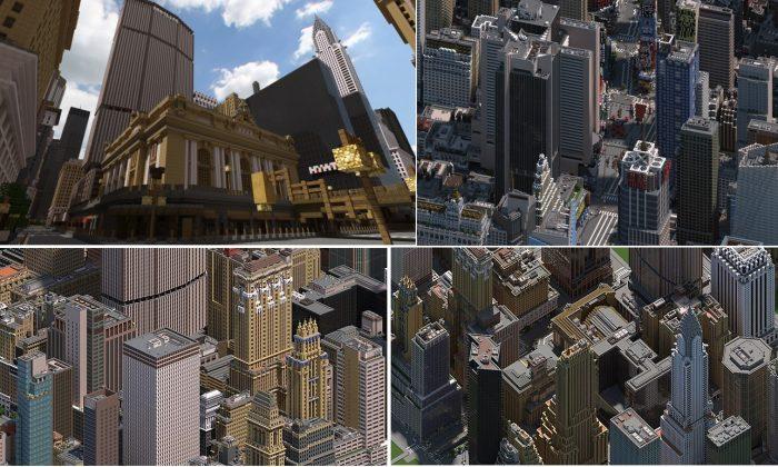 Minecraft 5 dia diem duoc tai hien hoanh trang va dep nhat tu doi thuc Midtown Manhattan 2 Game Cuối