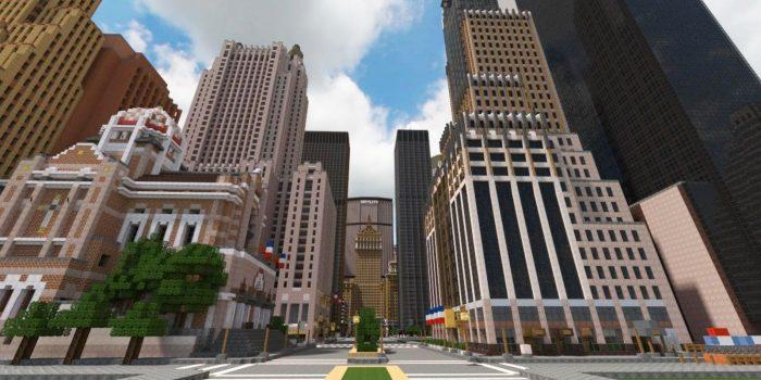 Minecraft 5 dia diem duoc tai hien hoanh trang va dep nhat tu doi thuc Midtown Manhattan Game Cuối