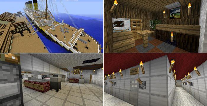 Minecraft 5 dia diem duoc tai hien hoanh trang va dep nhat tu doi thuc Titanic 2 Game Cuối