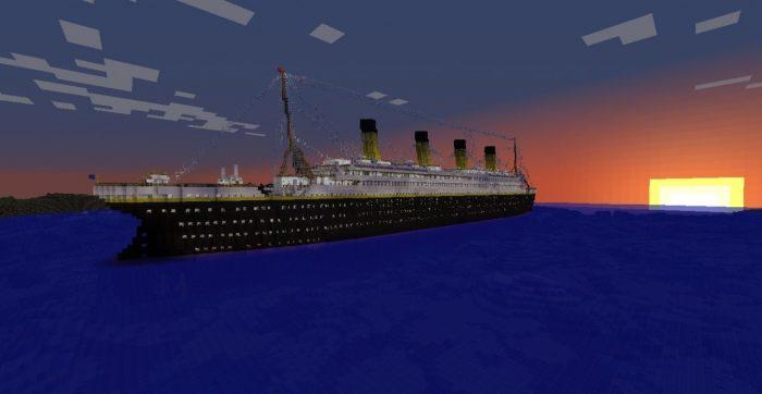 Minecraft 5 dia diem duoc tai hien hoanh trang va dep nhat tu doi thuc Titanic Game Cuối