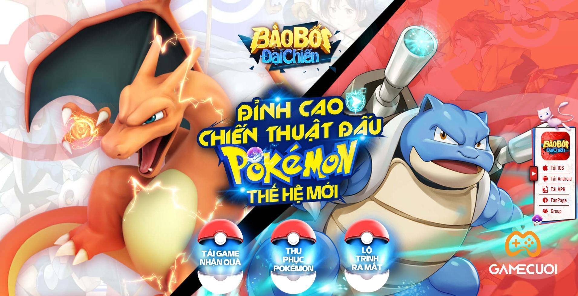 Bảo Bối Đại Chiến – Game đấu Pokémon thế hệ mới chính thức mở Landing, cho phép game thủ tải sớm nhận quà!